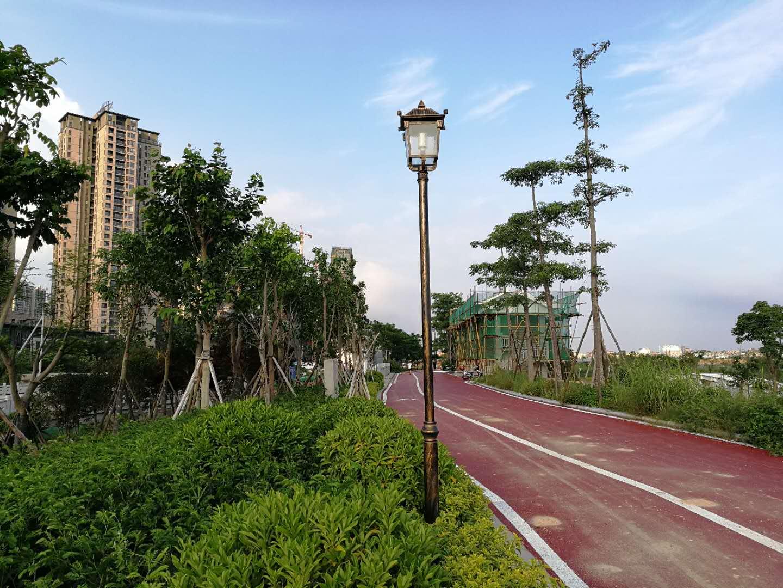 鑫永虹照明完成莆田木兰溪风景区庭院灯工程