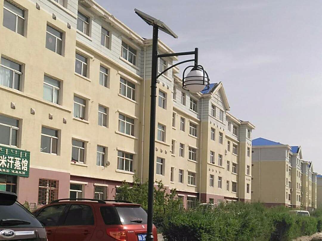 内蒙古二连浩特小区太阳能庭院灯工程案例